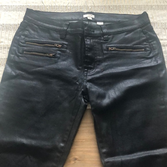 J. Crew Denim - J Crew wax coated Black jeans